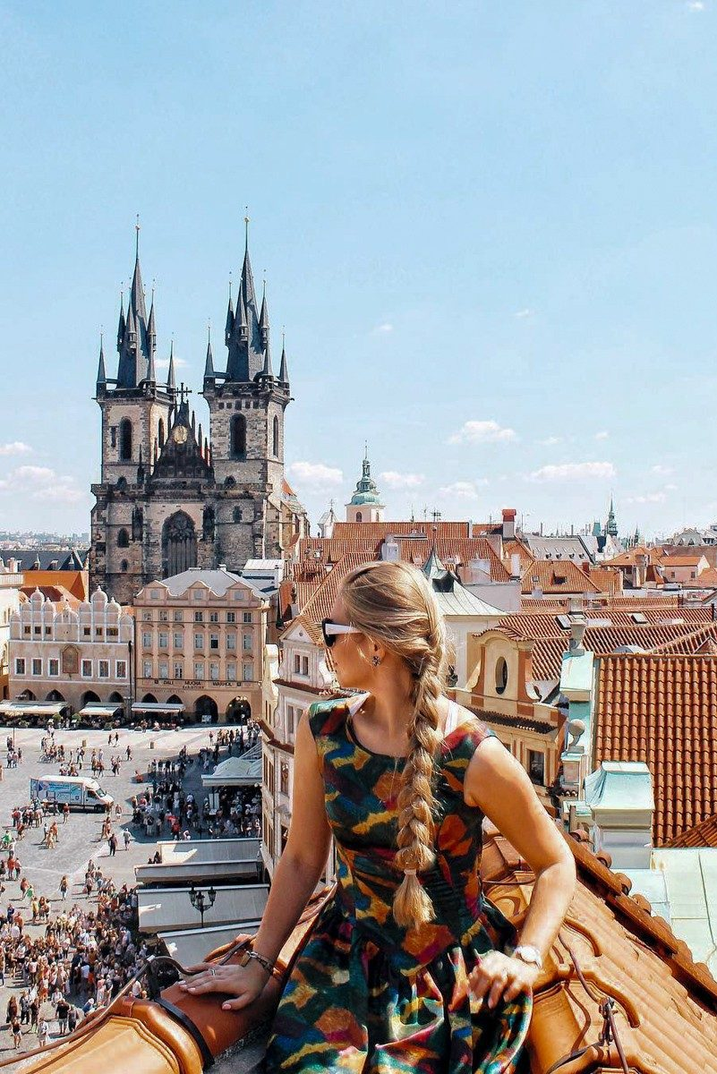 Prague observation point purpurpurpur